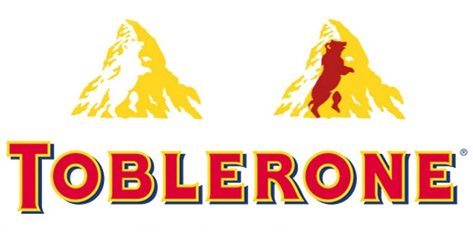 Όπως θα δείτε στην εικόνα, το βουνό πάνω στο logo της σοκολάτας Τoblerone κρύβει μια αρκούδα.