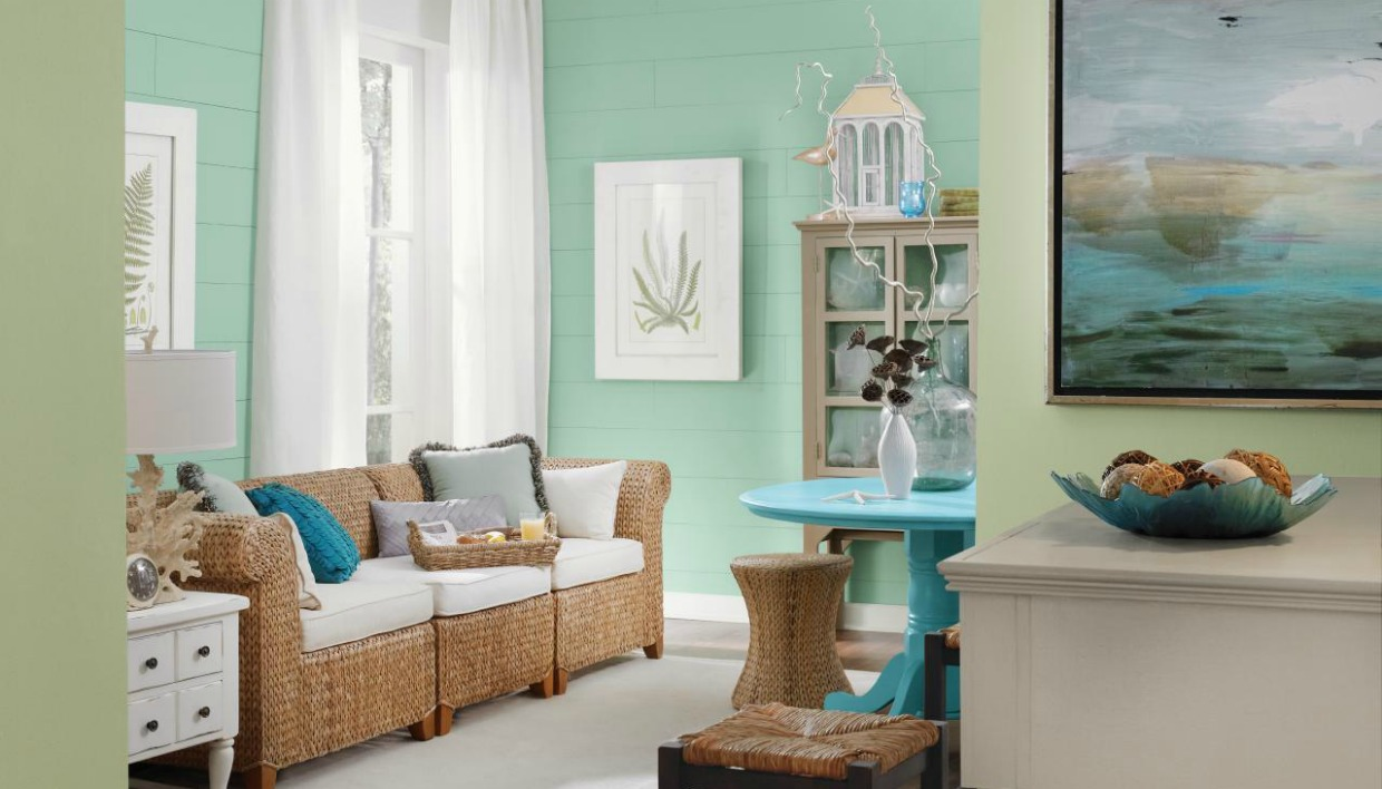 Living Room Paint Color Ideas With Brown Furniture Aqua