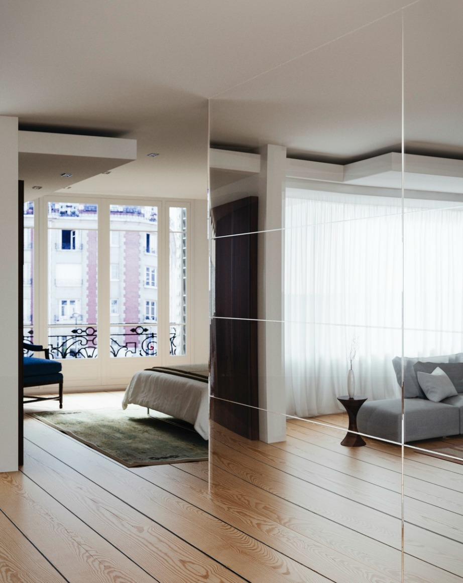 Αρχικά αποφασίστε τι είδους καθρέφτες θέλετε να κολλήσετε στους τοίχους σας.