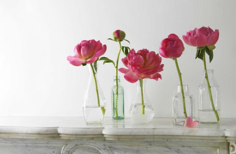 Ένα μπουκέτο ροζ λουλούδια, φέρνει σε δίνει σε κάθε χώρο μια νότα θηλυκότητας.