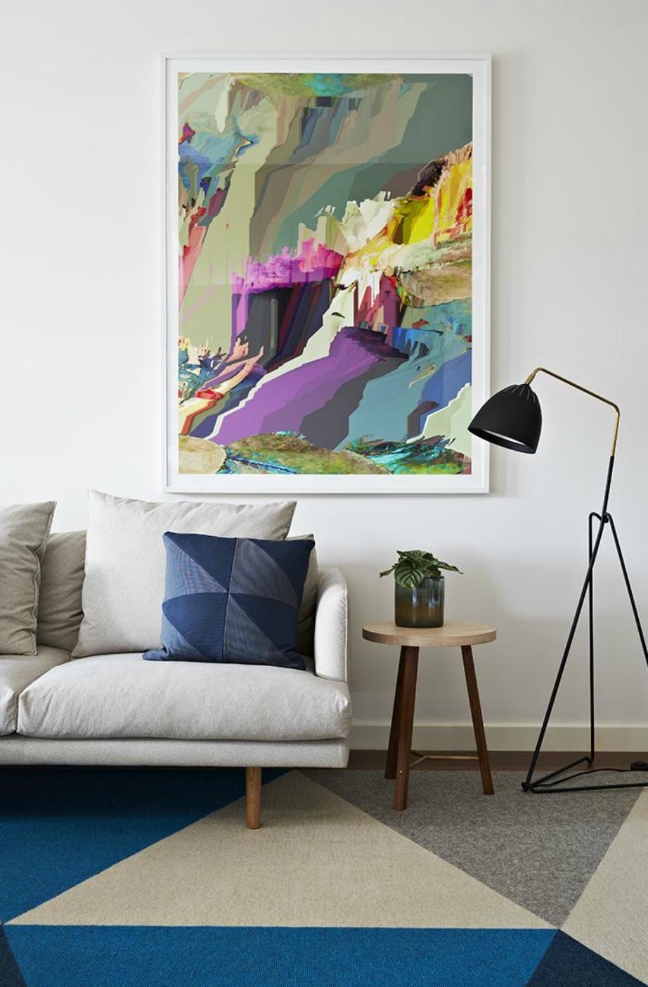 Ένας μεγάλος πίνακας θα δώσει πολυτελή νότα στον χώρο σας.