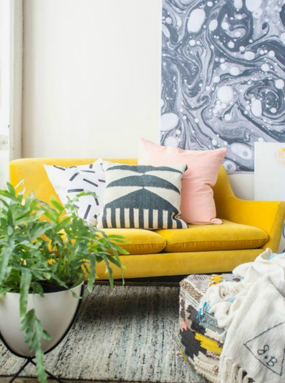 Το γκρι είναι ένα χρώμα που ταιριάζει επίσης με μουσταρδί και ροζ.