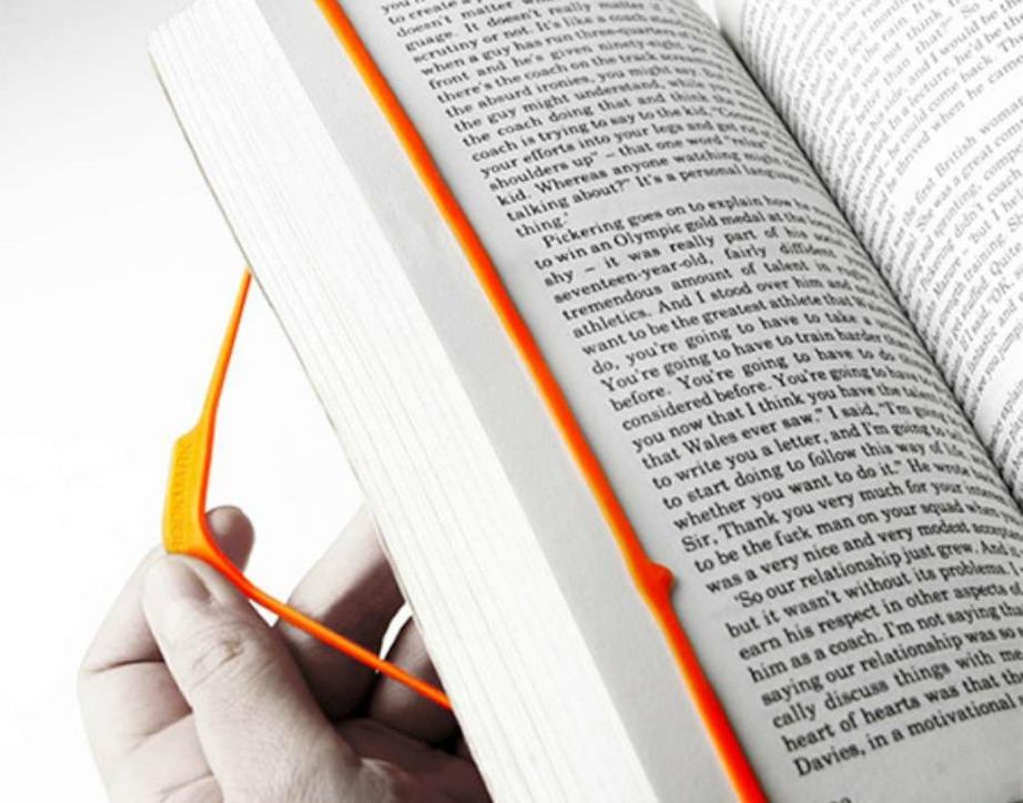 Βάλτε σελιδοδείκτη στο βιβλίο που διαβάζετε χρησιμοποιώντας ένα λαστιχάκι.