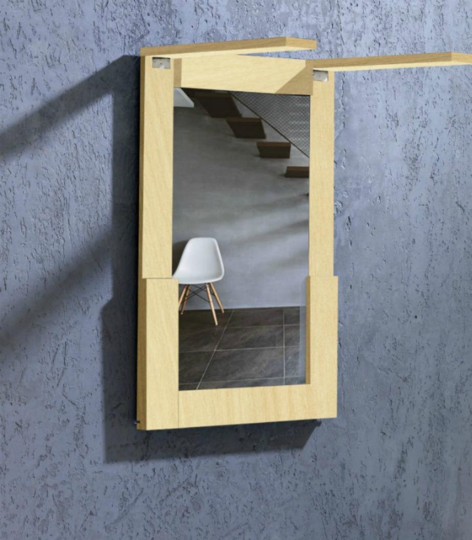 Το τραπέζι εύκολα σηκώνεται και μπαίνει στον τοίχο με απόλυτη ασφάλεια.
