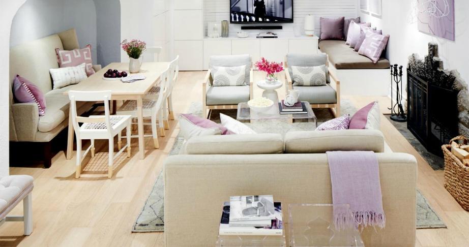 Αν το σπίτι σας δεν έχει πολλά ξεχωριστά δωμάτια τότε συνδυάστε διάφορα δωμάτια στον ίδιο χώρο.
