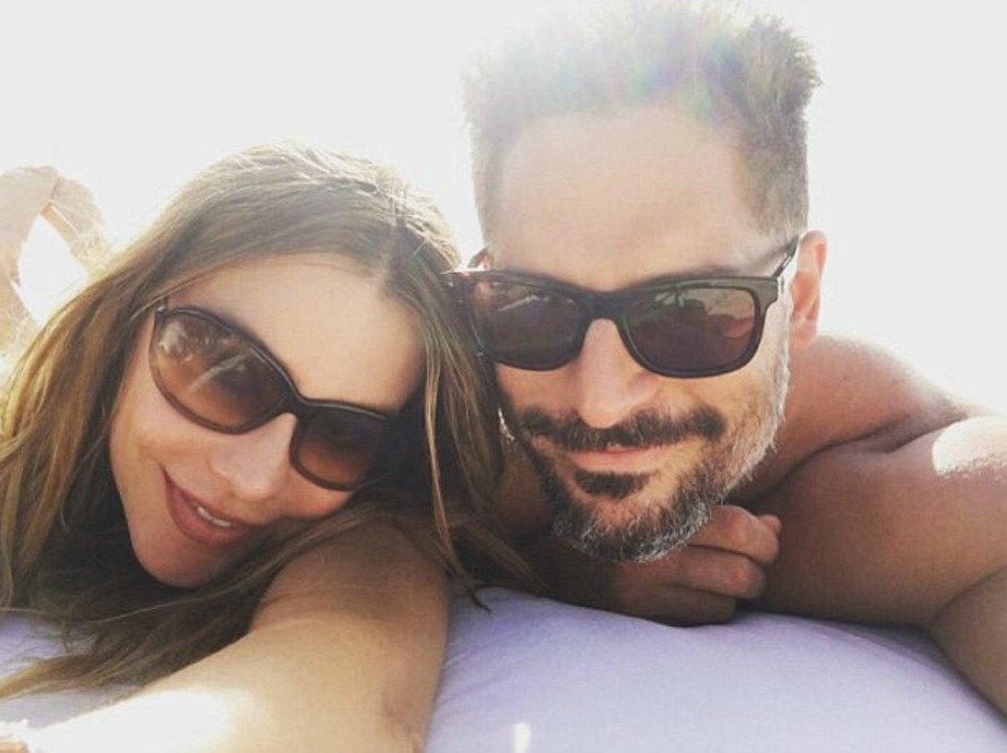 Η ηθοποιός με τον σύζυγό της στο ταξίδι του μέλιτος.