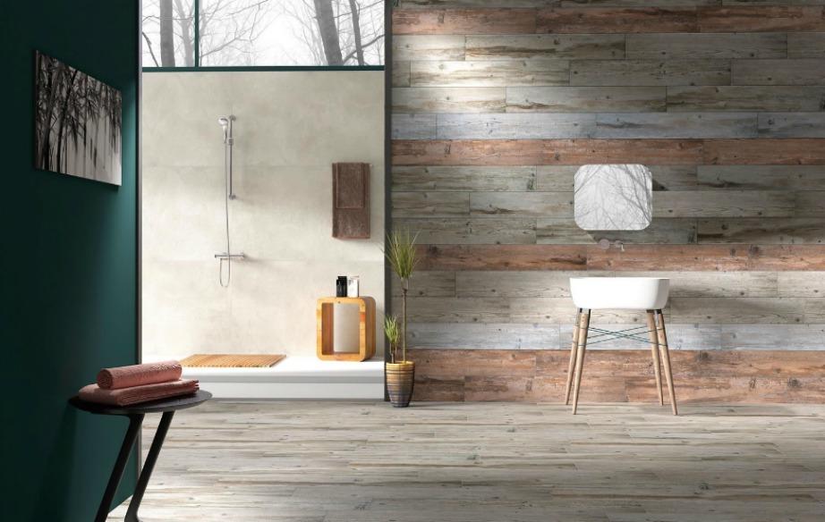 Τα ξυλόφυλλα χαρίζουν στιλ σε έναν τοίχο αλλά και σε ολόκληρο το δωμάτιο.