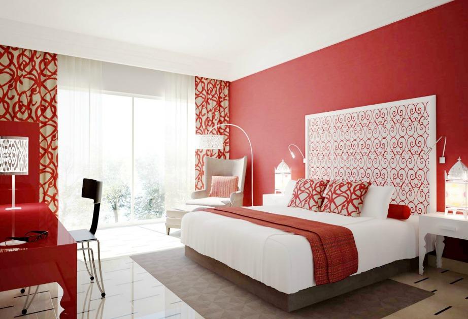 Τι και αν είναι το χρώμα του πάθους και της φωτιάς, το κόκκινο δεν αποτελεί καλή επιλογή για υπνοδωμάτια.