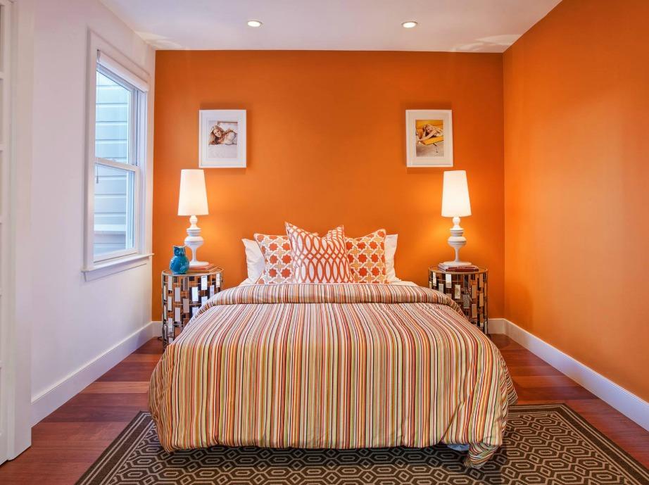 Αν έχετε στομαχικά προβλήματα τότε επιλέξτε πορτοκαλάι χρώμα για τους τοίχους σας. Αυτό το χρώμα βοηθάει πολύ στην καλή πέψη.