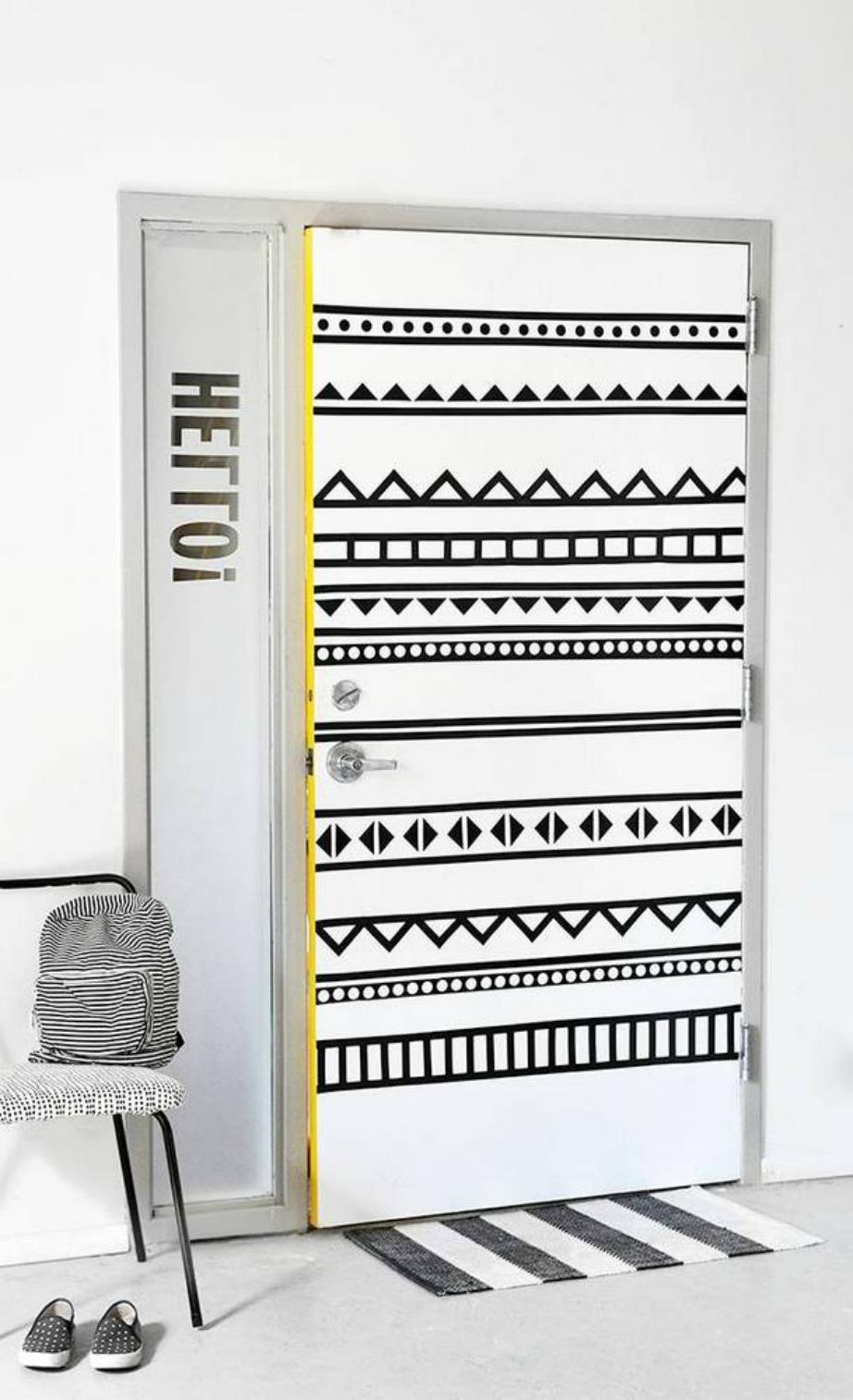 Μπορεί να χρησιμοποιείται για διαφορετικούς λόγους ωστόσο στην πόρτα δείχνει ως το καλύτερο διακοσμητικό.